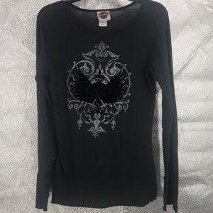 Harley-Davidson 100% Cotton long sleeve blouse